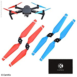 CamKix Propellers replacement for DJI Mavic Pro – 1 Set (4 Blades) – Red + Blue – Quick Release Foldable Wings – Flight Tested – Essential DJI Mavic Pro Accessory 51BMMNQxfGL