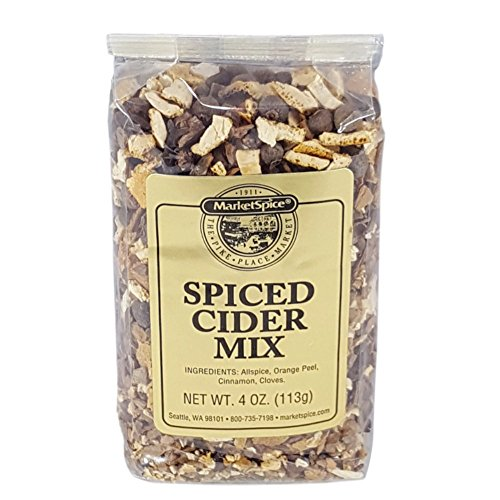 Mulling Spices,Market Spice Spiced Cider Mix For Hot Spiced Apple Cider Or Hot Spiced Wine, Allspice, Orange Peel, Cinnamon And Cloves, 4 Oz. Package