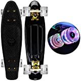 Brand New ''Black with FUN COOL Wheels'' 22'' Mini Retro Cruiser Skateboard Penny Style - Same Day Handling