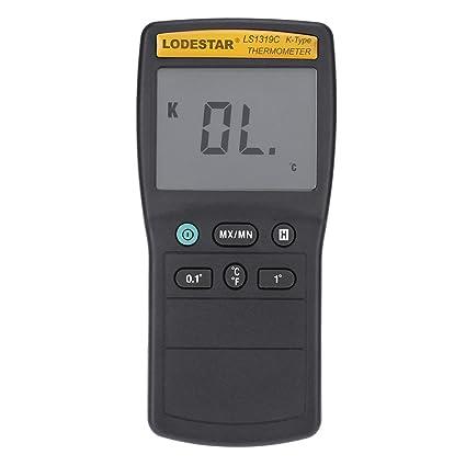 LS1319C - Termómetro de termómetro LCD tipo K con sonda