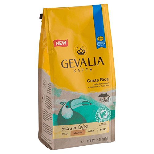 Gevalia Costa Rica Coffee, Medium Roast, Ground, 12 Ounce Bag