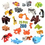 iPuzzle Educational ABS Building Block Creative Stacking Toys Animal Compatible Set 25pcs