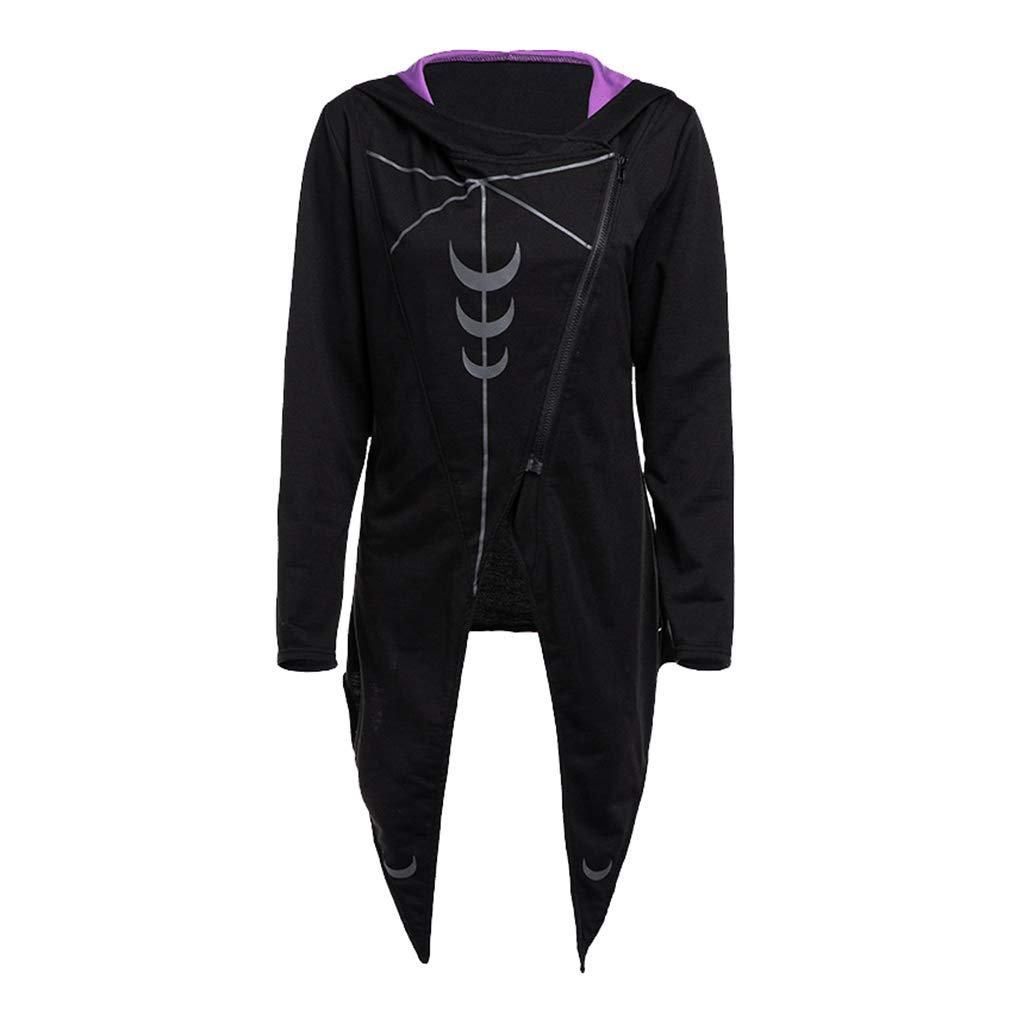 fa10b5c6b4 Hibote Rosetic Hoodies Gothic Casual Cool Chic Black Plus Size Women  Sweatshirts Loose Hooded Plain Print Punk Hoodies