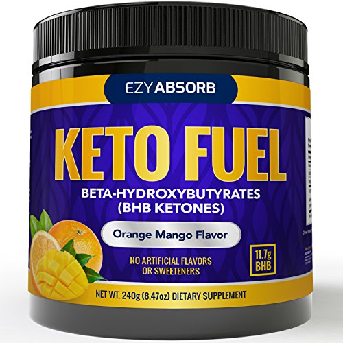 (EzyAbsorb Keto BHB Salts - Exogenous Keto Complex - The Perfect Keto Snack and Keto Drink Formulated for Keto Base, Keto Diet, Keto Meal, Instant Ketones)