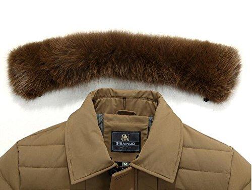 Lungo L inverno Pelliccia Giallo Hhy Spessore Di Il Caldo Comfort Collo Di Uomo Esterno wfwpIOq