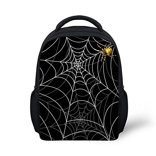 CHAQLIN Small Spider Web Designer Backpack for Teen Boys
