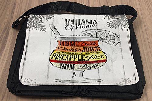 Borsa Tracolla Party Retro Bahama Mama Stampato Bar Pub Restaurant