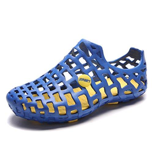 Pairers Herren Strand Sandalen Casual Mesh Wasser Schuhe Blau