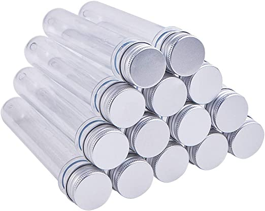Amazon Com Ph Pandahall 20 Pcs Clear Plastic Tube Bead Containers Test Tubes With Screw Caps 10ml 139 5x25mm Diameter 0 98 Length 5 49