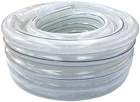 NSYNSY Garden Hose,Household Φ16mm Watering Flowers Car Wash Transparent Plastic Water Pipe (Size : 10m(32.8ft))