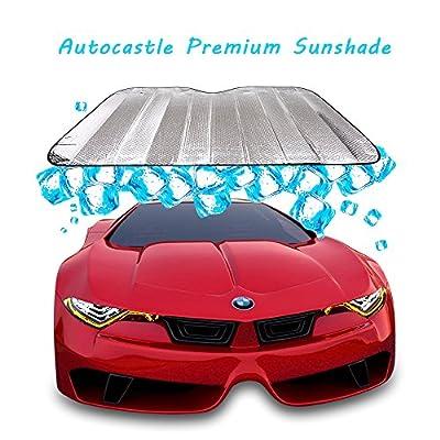Autocastle Portable Car Windshield Sunshade, Folding Silvering Reflective SunBlocks, UV Ray Sun Visor Protector.