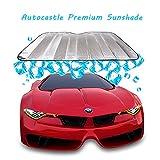 #3: Autocastle Portable Car Windshield Sunshade, Folding Silvering Reflective SunBlocks, UV Ray Sun Visor Protector