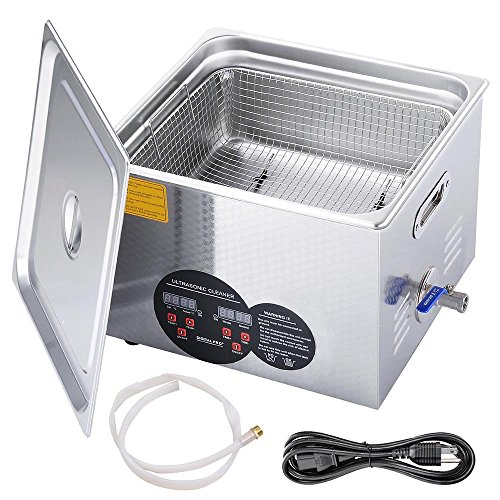 AW Pro Stainless Steel 15 L Liters 760W Ultrasonic Cleaner w/ Digital Heater Timer 6 Sets Transducers by AW