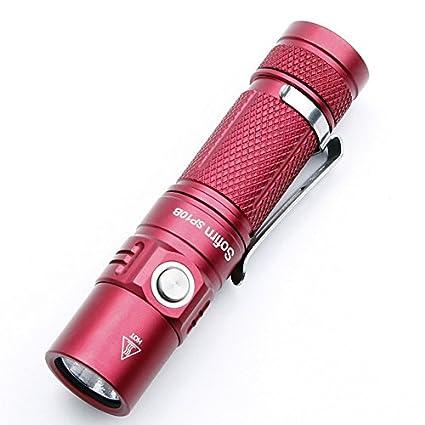 Amazon.com: SP10B rojo: Sofirn SP10A SP10B Mini linterna LED ...