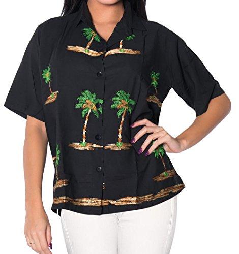 La Leela Smooth Rayon vacation short sleeves sales blouses female outfits boho...