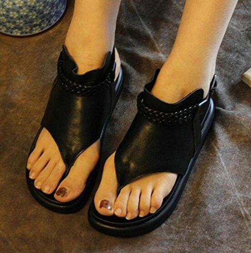 KUKI Frauen Schuh Ordner Zehe flache weben Schuhe , US5.5 / EU35 / UK3.5 / CN35