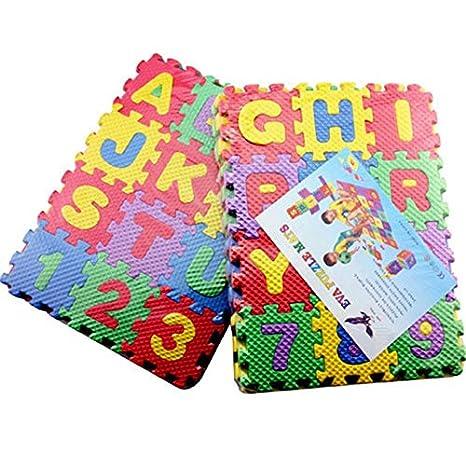Wenwenzui-ES Bebé EVA Espuma Puzzle Juego Alfombra para niños Alfombra Alfombra entrelazada Ejercicio Estera del Piso: Amazon.es: Hogar