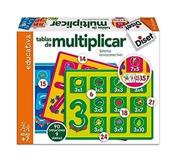 diset tablas de multiplicar