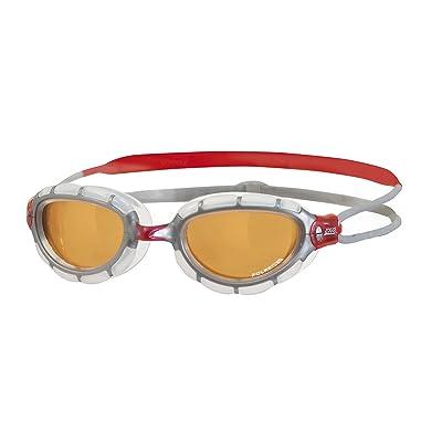 Zoggs Predator Polarized Ultra Swimming Goggle Red