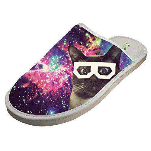 Sunglass Adult Cat in Galaxy Unisex Adult Sunglass Cotton House Slippers Keep Warm House Crocs Couples B07FMBQYMN Shoes 4cb8e0