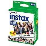 Fujifilm instax Wide Instant Film, 20 Exposures, White, Old Packaging