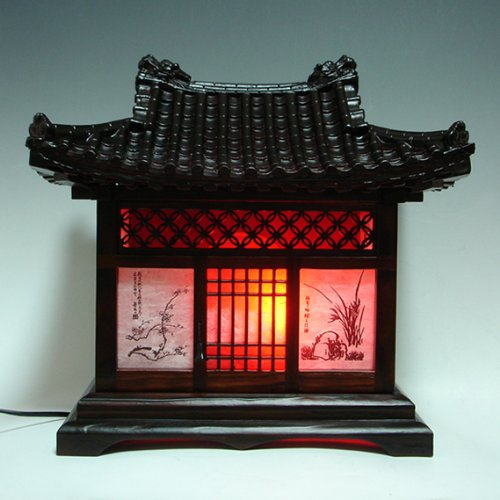 21 Most Unique Wood Home Decor Ideas: Wood Lamp Shade Handmade Traditional Korean House Design