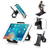 Universal Phone/Tablet Holder for Spinning Bike, Portable Smartphone and Tablet Stand for Treadmill Exercise Bike,Adjustable 360° Swivel Bracket Stand for 3.5-12' Smartphones and Tablets.