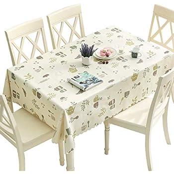 Amazon Com Duofire Vinyl Tablecloth Rectangle Heavy