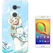 002583 - Sexy Fun Manga Girl Design alcatel A3 XL 6inch CASE Gel Silicone All Edges Protection Case Cover