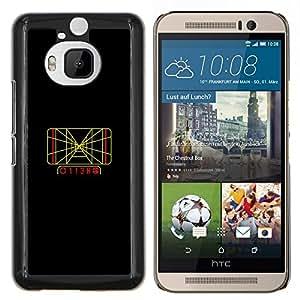 Jordan Colourful Shop - Grid Track For HTC One M9+ / M9 PLUS Personalizado negro cubierta de la caja de pl????stico