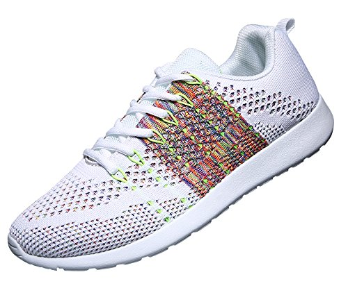WELMEE Men's Knit Breathable Casual Sneakers Lightweight Athletic Tennis Walking Running Shoes