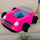 3D Rose Plush Sofa Chair Car Toy Cartoon Kids Baby Car Boy Girl Toddlers Gift Sitting-learn Chair Children's Day Festival Birthday Presents for Mom Soft Touch Cute Look Under Age 4