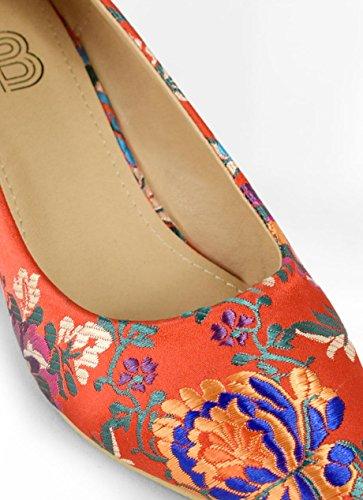 Rojo Con Flores Tacn Zapato Chupete Bosanova Fx7nq8CYnw