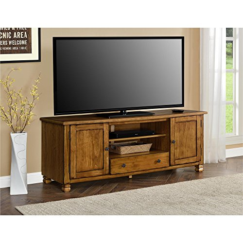 Ameriwood Home 1772096COM San Antonio Veneer Wood TV Stand, Tuscany Oak