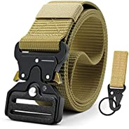 Doopai Tactical Belt for Men 2 Packs,Military Style Nylon Belts with Heavy-Duty quick-Release Metal Buckle in