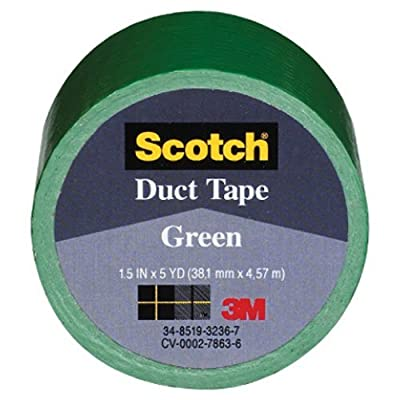 3M COMPANY 1005-GRN-IP Green Duct Tape, 1.5 x 5-Yard by 3M