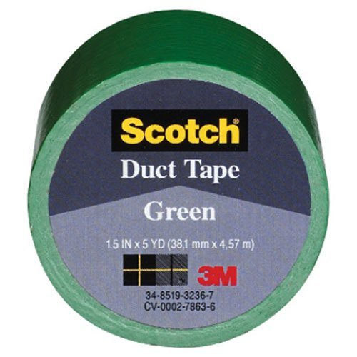3M COMPANY 1005-GRN-IP Green Duct Tape, 1.5 x 5-Yard