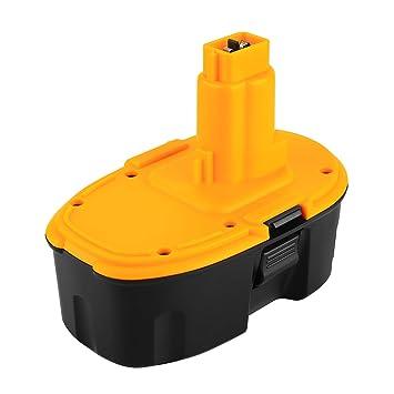 POWER-XWT 18V 3.0Ah Ni-MH Batería para Dewalt DE9098 DE9095 DE9094 DE9096 DE9039 DW9096 DW9095 DW9098 DE9503 DC9096 Dewalt Batería