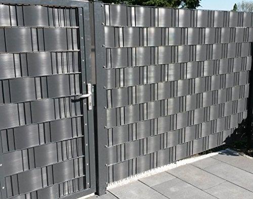 Sichtschutz Windschutz Hart PVC Streifen Zaun Blende zum Einflechten Sichtschutzstreifen hellgrau Doppelstabmatten Zaun Zäune Stahlgitterzäune Sichtschutz Streifen