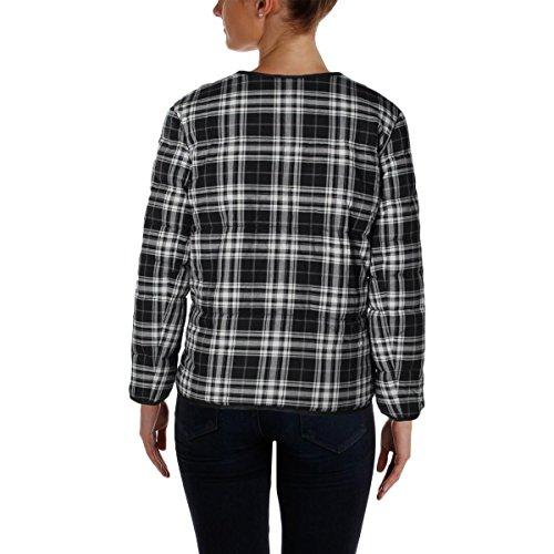 Pure DKNY Womens Reversible Plaid Coat Black S by DKNY (Image #1)