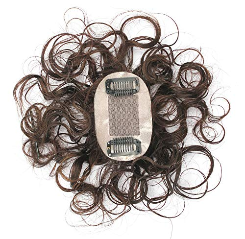 Real Human Hair Toppers Curly Top Hair Pieces for Women with Thinning Hair, 2