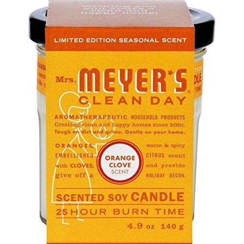 Mrs. Meyers Soy Candle - Orange Clove - Case of 6 - 4.9 oz C