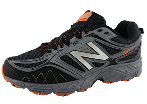New Balance Men's 510v3 Trail Running Shoe, Black/Grey, 10.5 4E US