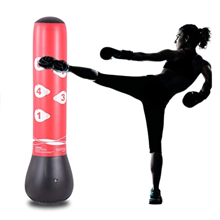 Amazon.com: HIWENA - Saco de boxeo inflable para niños y ...