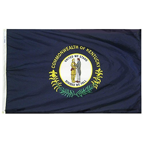 Annin Flagmakers Model 141980 Kentucky State Flag Nylon SolarGuard NYL-Glo, 5×8 ft, 100% Made in USA to Official Design Specifications
