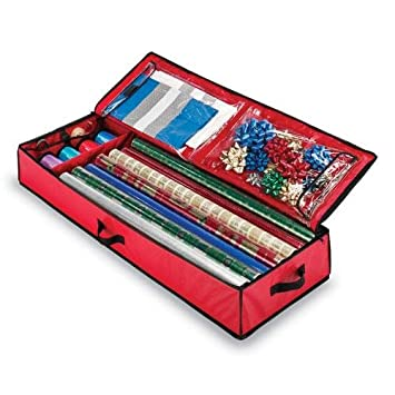Whitmor inc christmas gift wrap storage