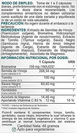 Airbiotic AB - Pulm-6 AB - Hierbas, antibacteriano, mucolítico - 60 cápsulas