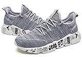 Jacky's Breathable Mesh Men Running Light Weight Outdoor Sports Sneakers Shoes (Men's 8 = Women's 9 / EU 41, Grey)