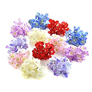 Artificial Hydrangea silk flowers Plant Wreath Fake Flower Heads in Bulk Wholesale for Crafts Home Wedding Decor Party Birthday Floral Decorations Popular Flowers 15pcs 7cm 46