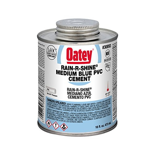 Oatey 30893 PVC Rain-R-Shine Cement, 16-Ounce, Blue